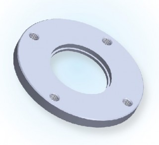 ISO Bored Blank Bolted Flange- Tapped ISO
