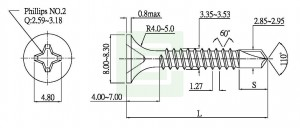 Drywall Screw Drilling point