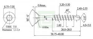Chipboard  screw drill point