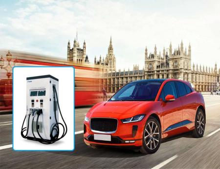 Electric Vehicle AC & DC Combo Charger, 3 guns