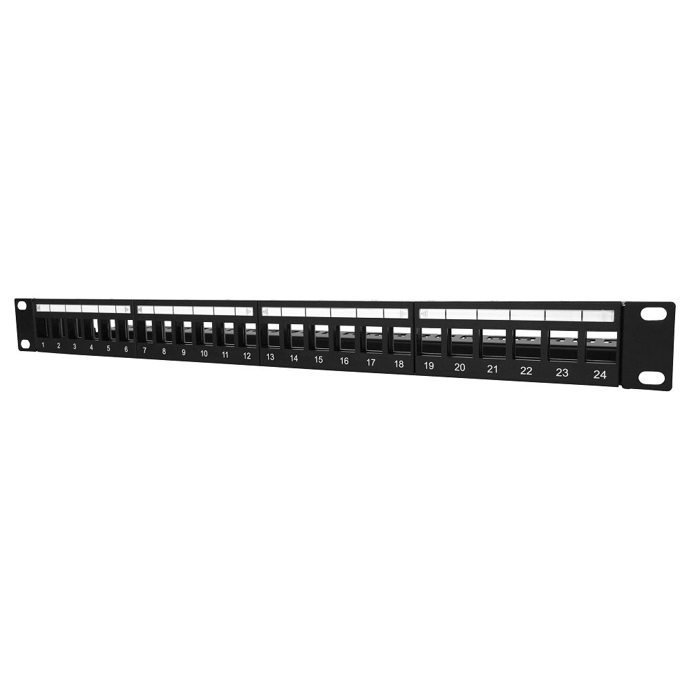 1u 24port Ftp Empty Patch Panel Electrical Plugs And Connectors 24 Port Cat 6 Cable Wiring 48