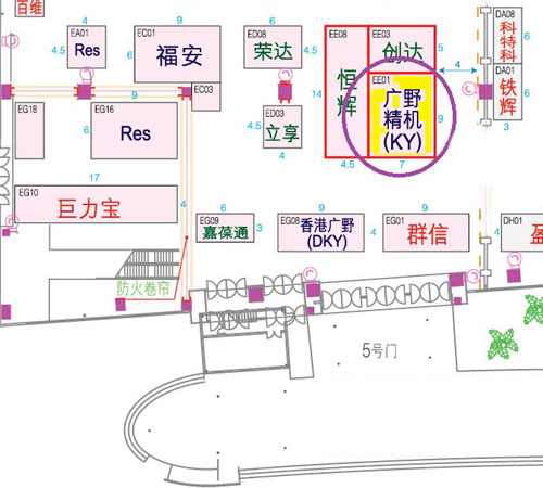2018 Kyang Yhe exhibition location map (DTC)