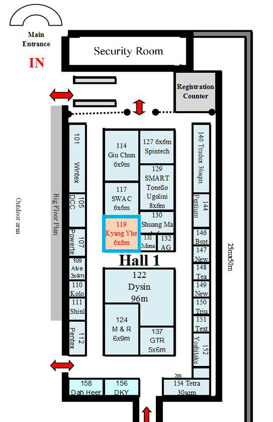 2018 Kyang Yhe exhibition location map (DTG)