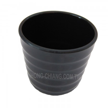 Threaded Cup - Black Threaded Cup