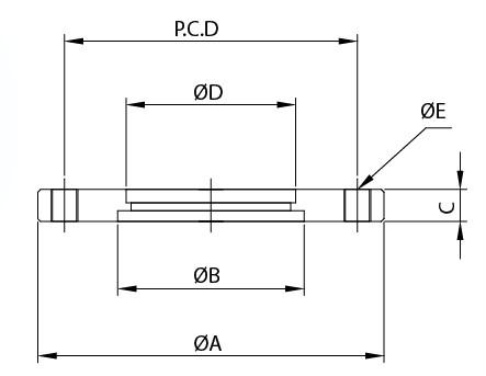 Έγχρωμη φλάντζα με τρυπημένα άκρα με ISO