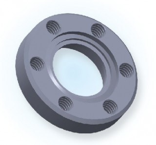 CF Bored Blank Tapped Flange
