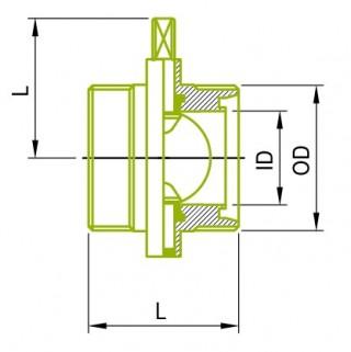 Αρσενικές βαλβίδες τύπου DIN
