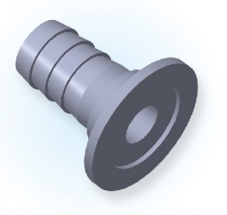 KF Rubber Hose Adaptor