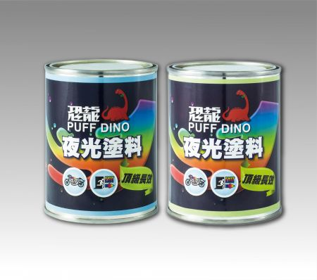 PUFF DINO Glow-In-The-Dark Paint - Semitransparent Yellow-Green - Luminous Paint Coating