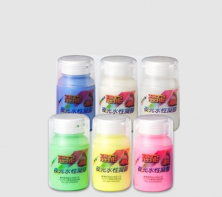 PUFF DINO Glow-In-The-Dark Water-Based Paint 60ml - Water-Based Luminous Paint
