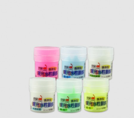 PUFF DINO Glow-In-The-Dark Water-Based Paint 10ml - Water-Based Luminous Paint