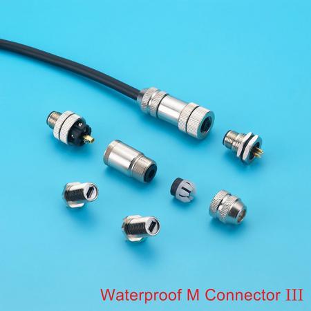 Conector M12 / M8 impermeável