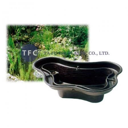 Ponds are made by polyethylene.