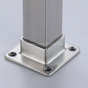 STAINLESS STEEL BASE FOR SQUIARE TUBE ( SS:40036SQ) SS:40036SQ