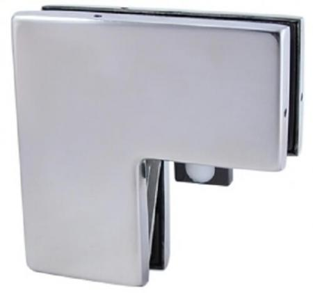 Overpanel and Sidepanel Connector With Stopper - Connector for overpanel and sidelight, for single action doors with one stop insert.