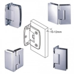 Adjustable Glass Hinges for 10-12mm Glass - Adjustable glass hinges for 10-12mm glass