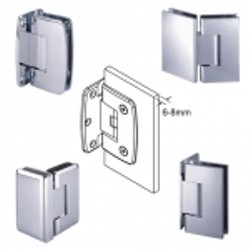 Adjustable Glass Hinges for 6-8mm Glass - Adjustable glass hinges for 6-8mm glass