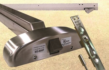 Exit Device Hardware - Exit device includes panic bar, door coordinator and outside trim