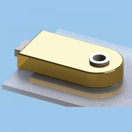 Glas Patch Lock, dummy type - Glazen deurslot met magnetische sluiting en radiusdeksel