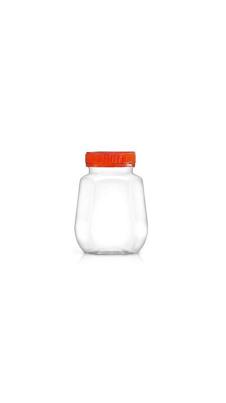 PET 53mm Series Wide Mouth Jar (F300) - Pet-Plastic-Bottles-Octagonal-F300