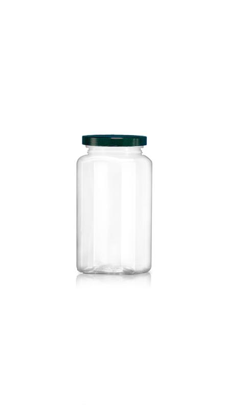 PET 63mm Series Wide Mouth Jar (WM438) - Pet-Plastic-Bottles-Octagonal-Wm438