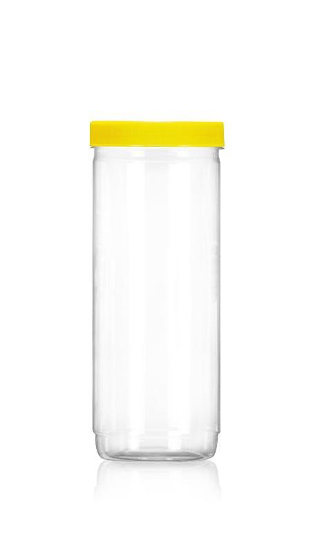 PET 89mm Series Wide Mouth Jar (D1207) - Pet-Plastic-Bottles-Round-D1207