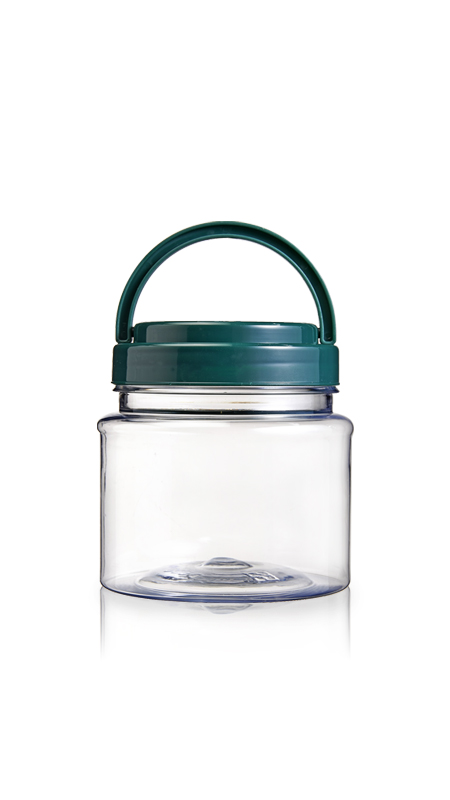 PET 89mm Series Wide Mouth Jar (D500) - Pet-Plastic-Bottles-Round-D500