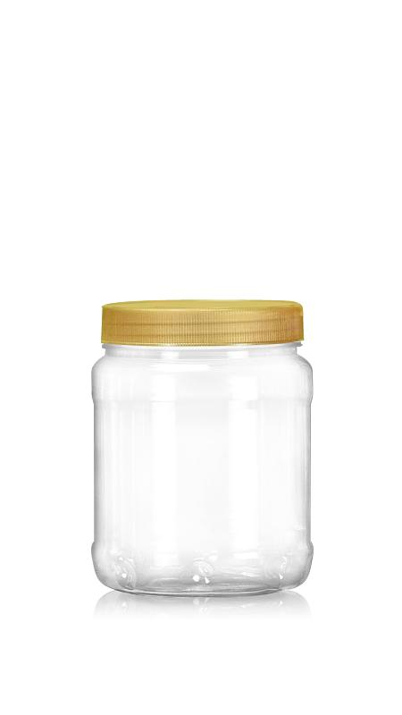 PET 89mm Series Wide Mouth Jar (D750) - Pet-Plastic-Bottles-Round-D750