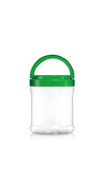 PET 120mm Series Wide Mouth Jar (J1200) - Pet-Plastic-Bottles-Round-J1200