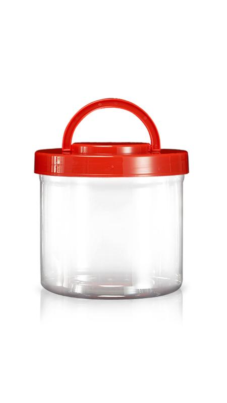 PET 180mm Series Wide Mouth Jar (M3500) - Pet-Plastic-Bottles-Round-M3500