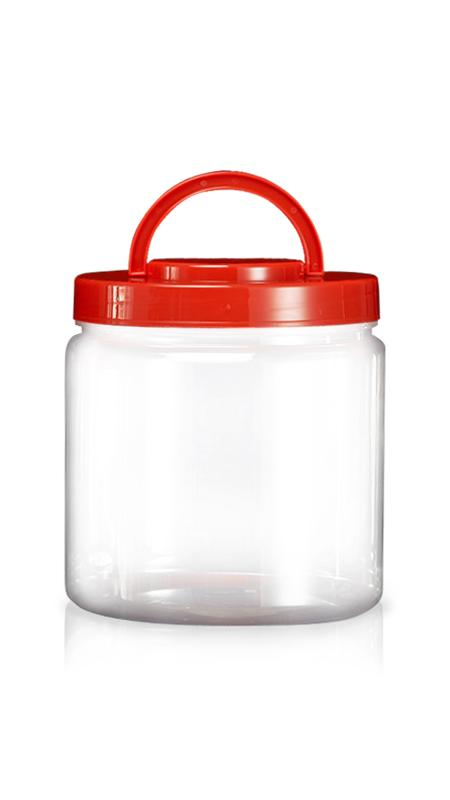 PET 180mm Series Wide Mouth Jar (M5000) - Pet-Plastic-Bottles-Round-M5000