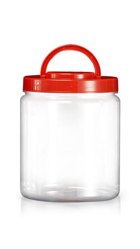 PET 180mm Series Wide Mouth Jar (M6000) - Pet-Plastic-Bottles-Round-M6000