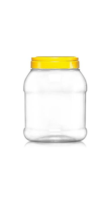 PET 120mm Series Wide Mouth Jar (J1500S) - Pet-Plastic-Bottles-Round-Sharp-J1500S