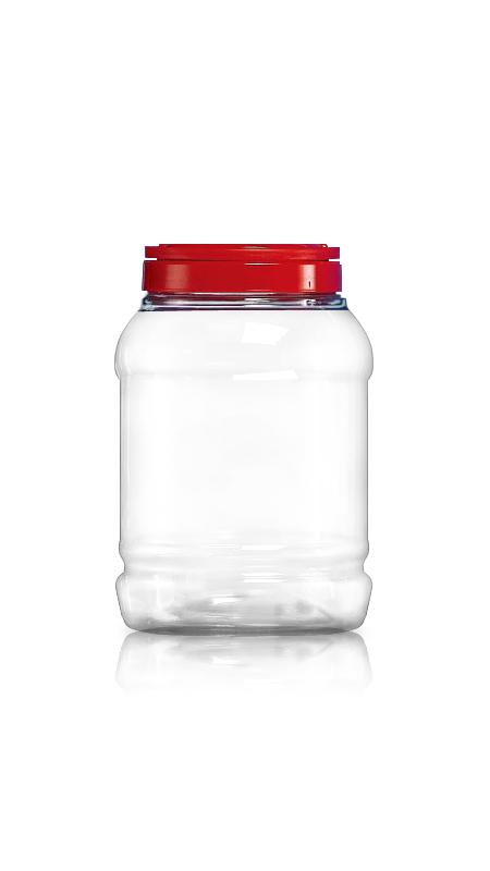 PET 120mm Series Wide Mouth Jar (J1800) - Pet-Plastic-Bottles-Round-Sharp-J1800