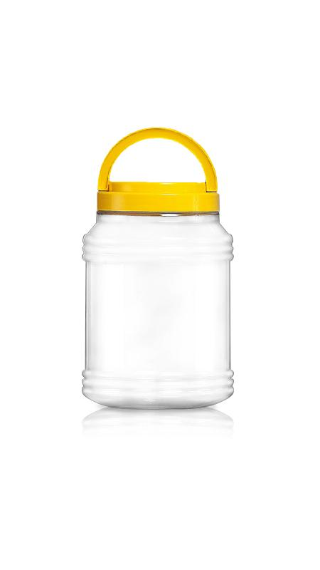PET 120mm Series Wide Mouth Jar (J3000) - Pet-Plastic-Bottles-Round-Sharp-J3000