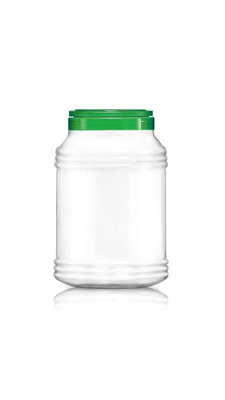 PET 120mm Series Wide Mouth Jar (J4000) - Pet-Plastic-Bottles-Round-Sharp-J4000