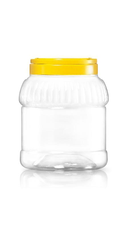 PET 120mm Series Wide Mouth Jar (J1120) - Pet-Plastic-Bottles-Round-Stripe-J1120