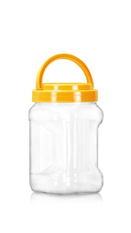PET 89mm Series Wide Mouth Jar (D804) - Pet-Plastic-Bottles-Square-Grip-D804