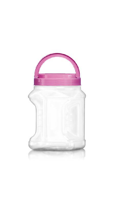 PET 120mm Series Wide Mouth Jar (J1804) - Pet-Plastic-Bottles-Square-Grip-J1804