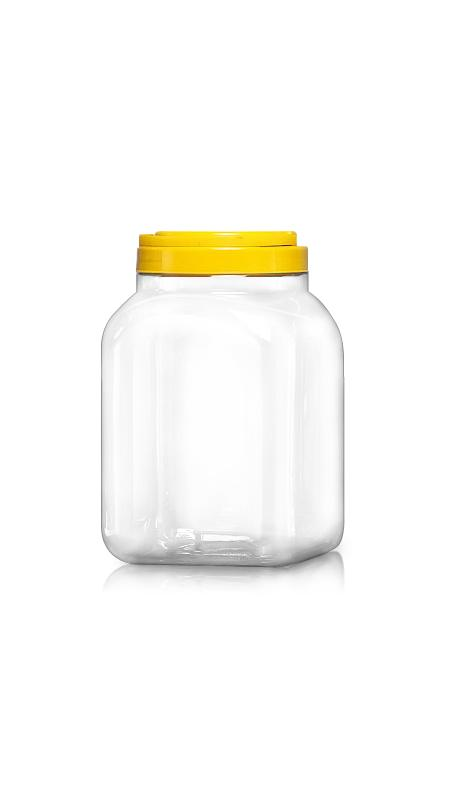 PET 120mm Series Wide Mouth Jar (J3504) - Pet-Plastic-Bottles-Square-Sharp-J3504